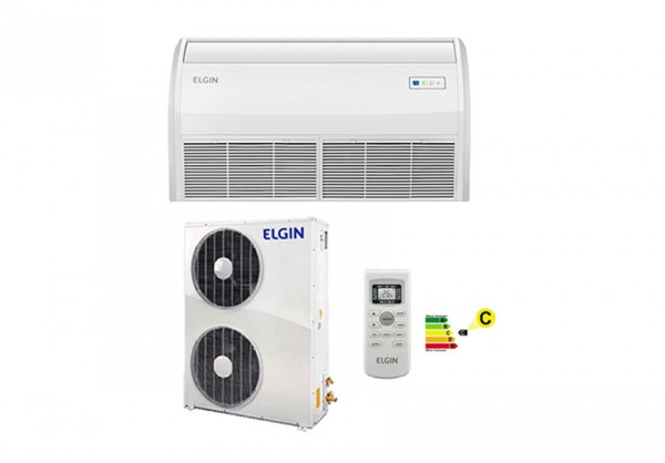 Ar Condicionado Split Piso Teto Eco Elgin PEF 60000 Btus Frio Trifasico R-410 220V